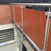 Geländer mit Trespa Platten