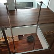 Geländer IPE Glas